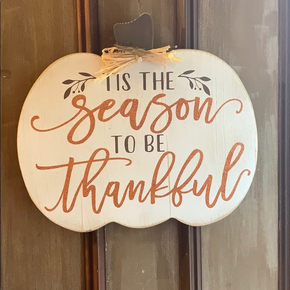Fall door sign